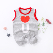 YiErYing Summer Newborn Baby Sleeveless Letter Printed Rompers Boys Girls Jumpsuit Outfits Clothes Sportswear Clothing
