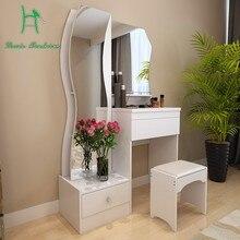 Туалетный столик белый современный простой модный многофункциональный маленький размер столик для макияжа комод