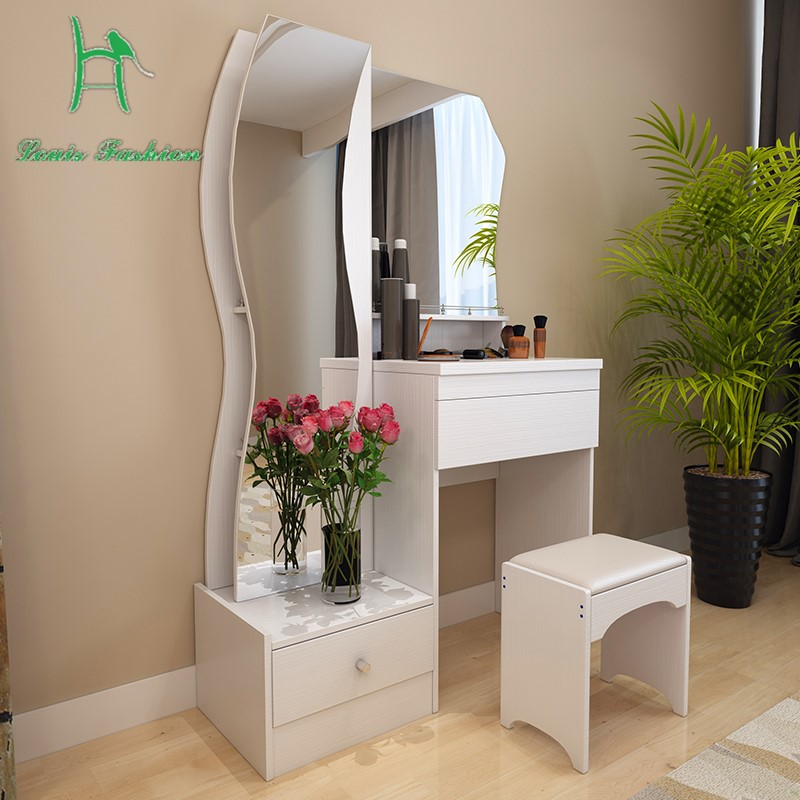 Dressing table white modern simple fashion multifunctional small size make up table makeup table