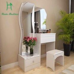 Penteadeira branco modern simples moda multifuncional tamanho pequeno compõem mesa cômoda