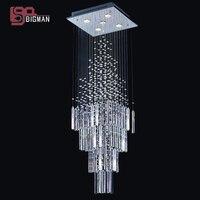 Hot Sales Modern Crystal Chandelier Square Crystal Light L300 W300 H1200mm Indoor Lighting