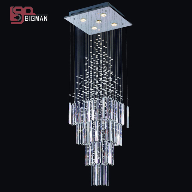Hot S Modern Crystal Chandelier Square Light Length 300mm Indoor Lighting