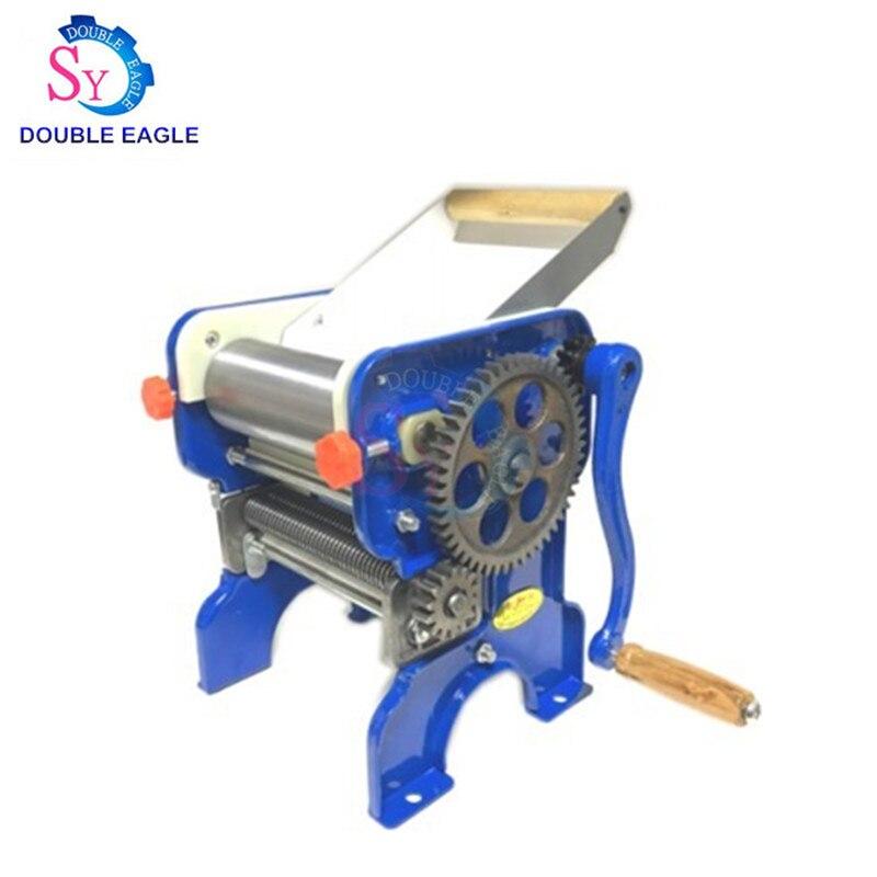 150-4 Bearing Hand Double Knife Dough Rolling Machine Pressing Machine Home Manual Pasta Making Machine Dumpling Skin Blue