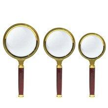 цены на 10X Portable Magnifying Glass Handheld Magnifier High Definition Reading Eye Loupe Magnifying Glass Reading Jewelry 60/70/80mm  в интернет-магазинах