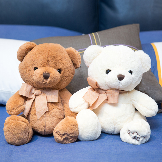20cm Mini Teddy Bear Stuffed Animals Plush Soft Toys Small Bear Bow tie Valentine Gifts for Girlfriends for Children