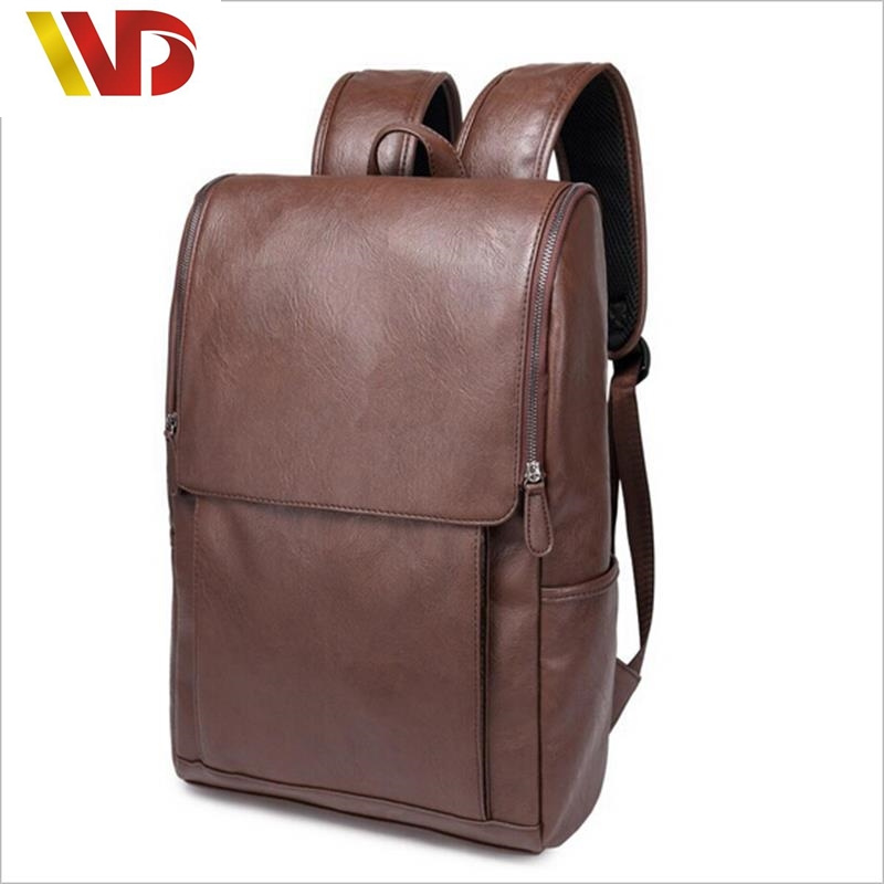 2016 fashion big men women best genuine leather black backpack school designer male rucksack leisure travel bags cost backpacks