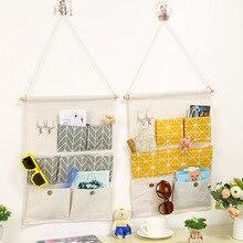 Wall Hanging Storage Bags Organizer 3/7 Pockets Closet Children Room Door Organizer Pouch