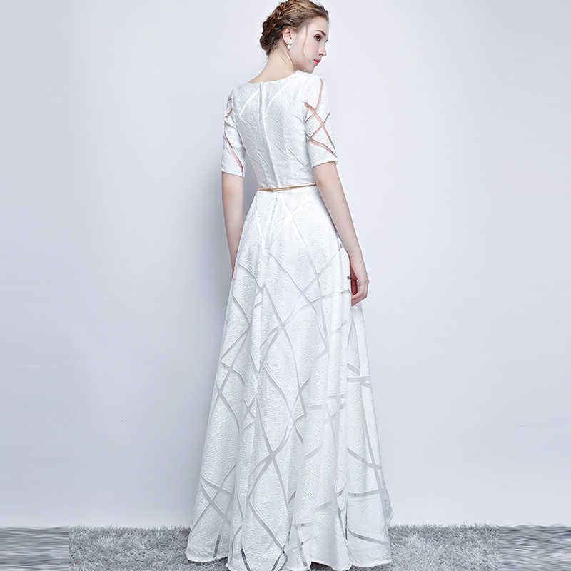 856d9278d3220 UIZVTIK Summer Dress For Women 2019 Elegant Formal Ball Gown Long Party  Dress Female Casual Plus Size Slim Maxi Dresses White