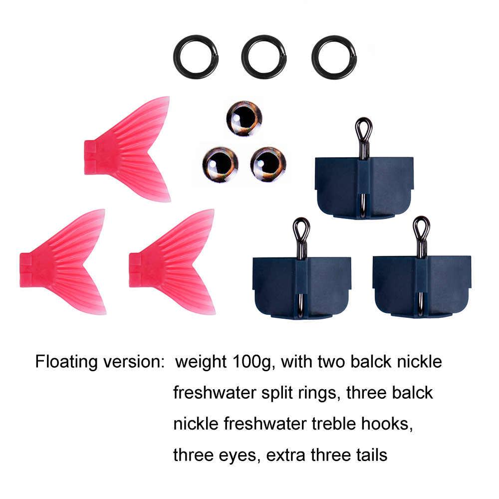 """220 مللي متر 9 """"بطيئة غرق المياه المالحة أو العائمة المياه العذبة كبيرة باس الصيد صوتها الطعوم Swimbait الصيد إغراء"""
