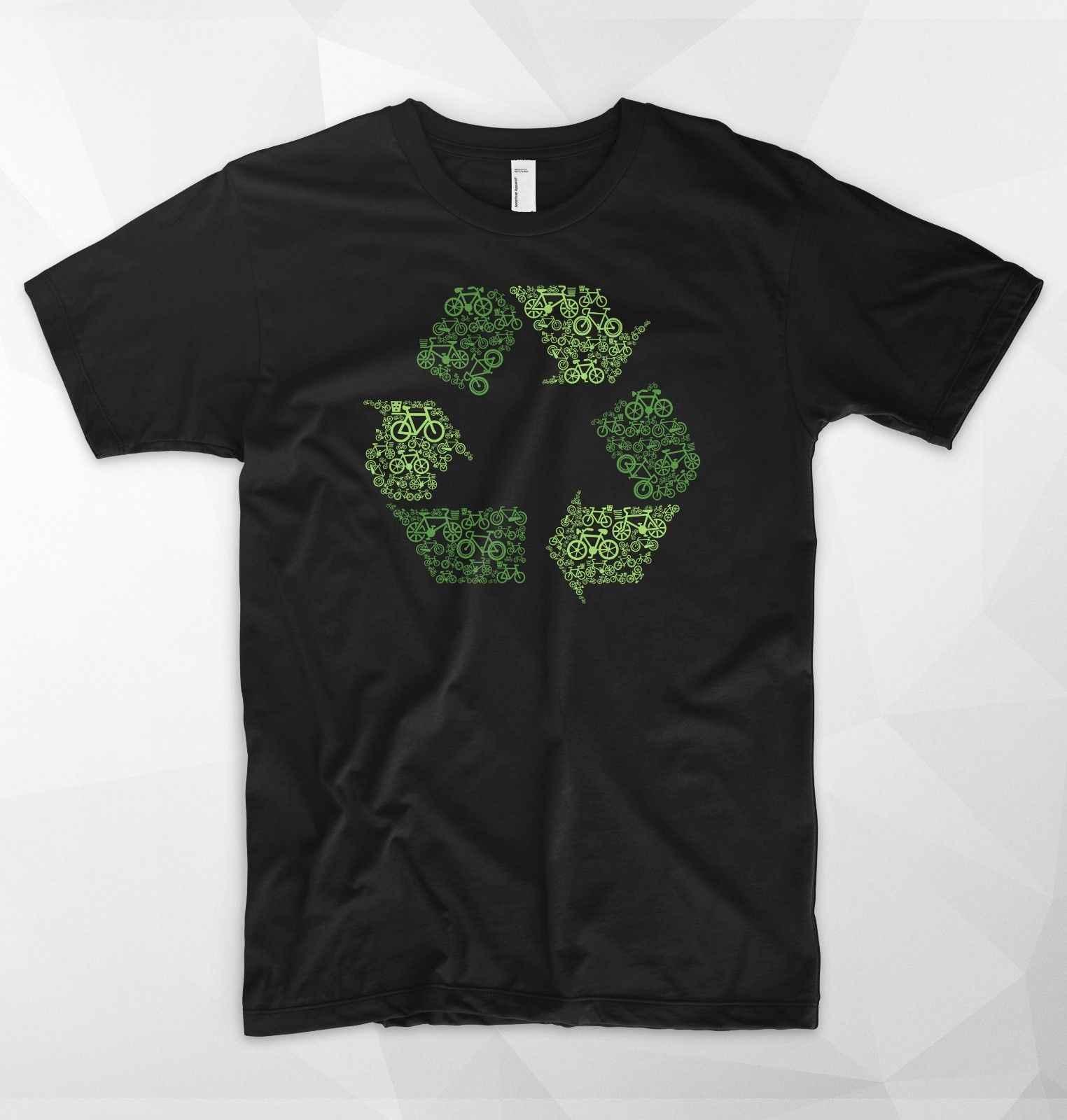 Geri dönüşüm Logosu T Shirt Üst Bisiklet Ekoloji Çevre WWF Greenpeace Vegan Hayvanlar