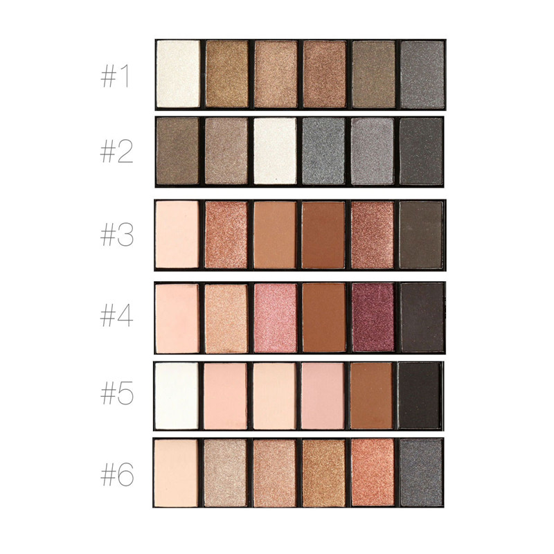 FOCALLURE 6 colores Shimmer Matte Eyeshadow Palette Sombra de ojos de - Maquillaje - foto 2