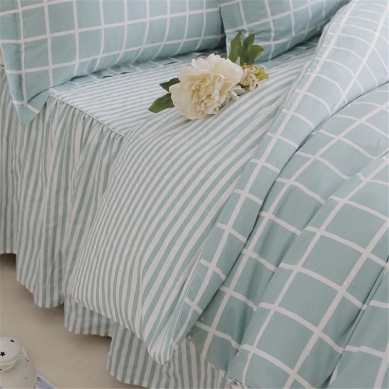 Plaid classico set di biancheria da letto luce bel plaid copripiumino casa letto tessile lenzuolo della banda della principessa gonna letto copriletto lino - 5