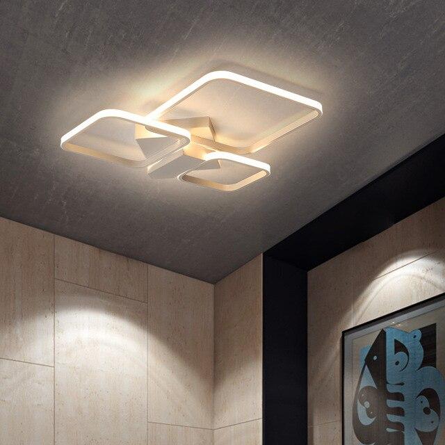 Led living room Nordic modern minimalist office aluminum rectangular bedroom ceiling lamp restaurant lamp pendant lamps