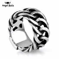 Heißer Verkauf Finger Art Retro Punk Biker Schmuck Breite Kette Ring Buddha Ring Rock Zu Silber Buddha Ring