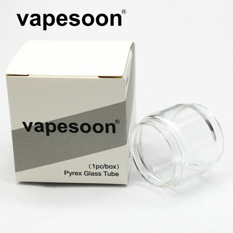 100% Original vapesoon Replacement Pyrex Glass Bubble Glass Tube for KAEES <font><b>Solomon</b></font> <font><b>2</b></font> <font><b>RTA</b></font> 5ml/3.5ml Capacity Tank Atomizer image