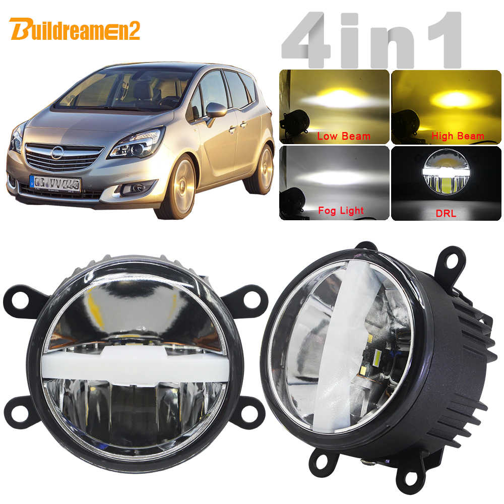 4in1 Car LED Fog Light + Headlight High Beam Low Beam + DRL With Harness Wire H11 12V For Opel Meriva A 2006 2007 2008 2009 2010
