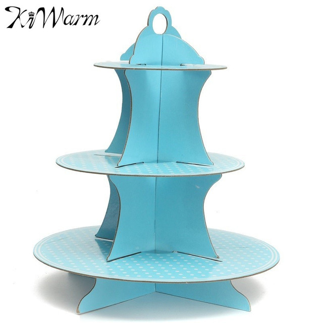 Lovely 3 Tier Cardboard Cupcake Paper Stand Plates Muffin Dessert Cake Holder Lunch Tea Time Wedding  sc 1 st  AliExpress.com : cupcake paper plates - Pezcame.Com