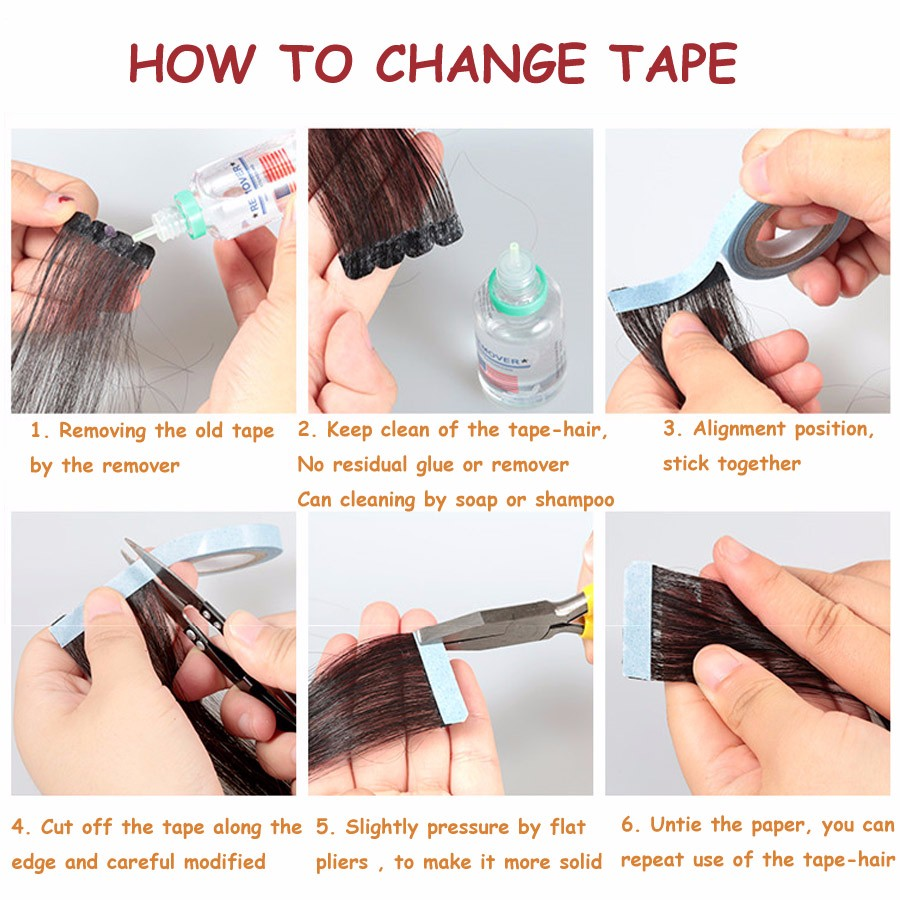 Last 8 Weeks Skin Weft Tapes Wig Glue For Tape Hair Extensions