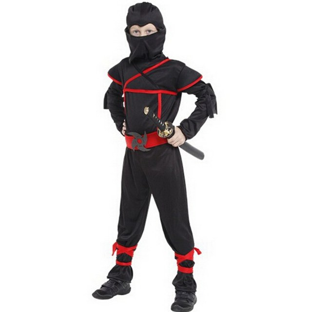 Halloween costumes,stage performances;Cos Cloaking Ninja clothes;children masquerade performance clothing
