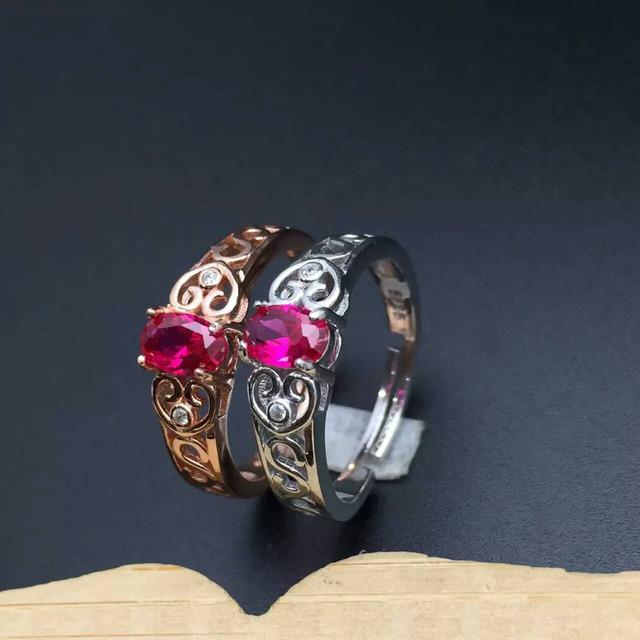 Anillos de boda de la vendimia marca natural pink topaz 925 plata esterlina sólida moda gema de la joyería del anillo para mujer del día de san valentín regalo