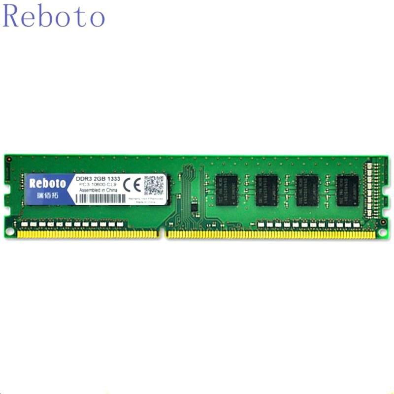 Reboto DDR3 1GB 2GB 4GB 8GB RAM PC3 1600mhz PC3 10600 Memory Desktop