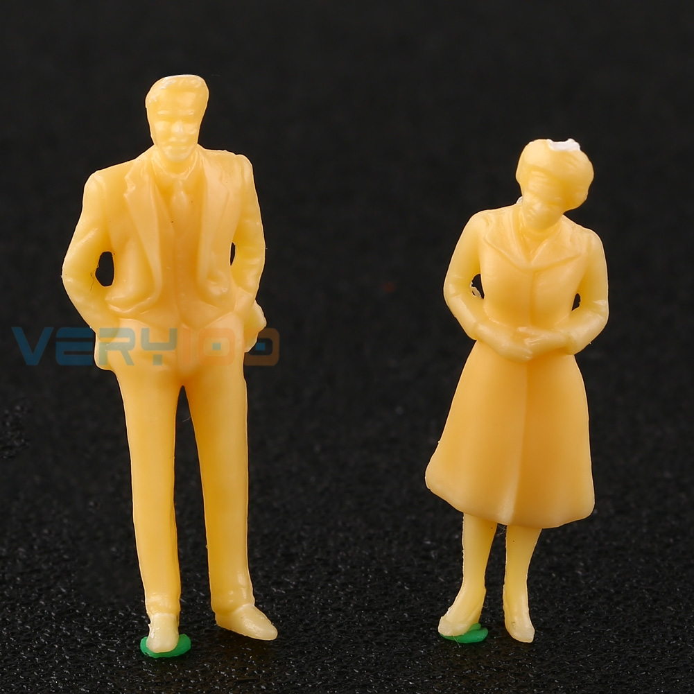 U.TECH 100 Model Train Railway 1:50 SCALE Unpainted Figures People Assorted Poses Free Shipping