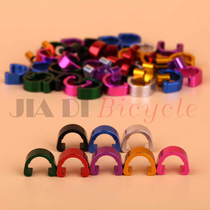 10Pcs MTB Bike Bicycle Frame U Buckle for Brake Cable Housing Hose Tube Shifter Cable Guides Button Fixed Tubing Clips