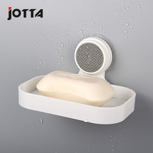 Powerful perforated soap box bathroom kitchen single layer soaps plastic suction cup rack