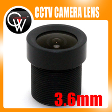 Wholesale 100pcs/lot Board 3.6mm Lens 88 Degree CCTV Lens Wide Angle Security Lens For CCTV Security Camera