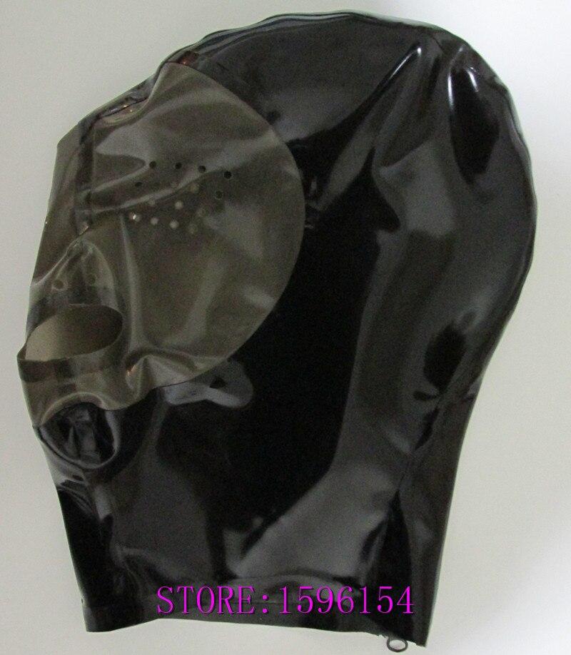Mode Latex Kap Rubber Masker Natuur Handgemaakte Latex Geperforeerde - Carnavalskostuums - Foto 3