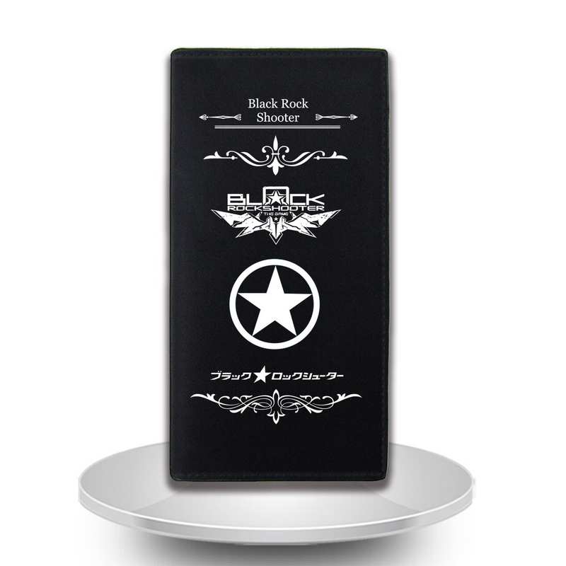 Anime BLACK ROCK SHOOTER Cosplay Anime wallet simple wind long section short money wallet men student gift free shipping hot heat resistant party hair 120cm long black rock shooter black anime cosplay wig 2clip on ponytail