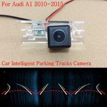 Автомобиль Интеллектуальные Парковка Треки Камеры ДЛЯ Audi A1 2010 ~ 2015/Назад Видеокамера Заднего Хода/Камера Заднего вида/HD CCD Ночь видение