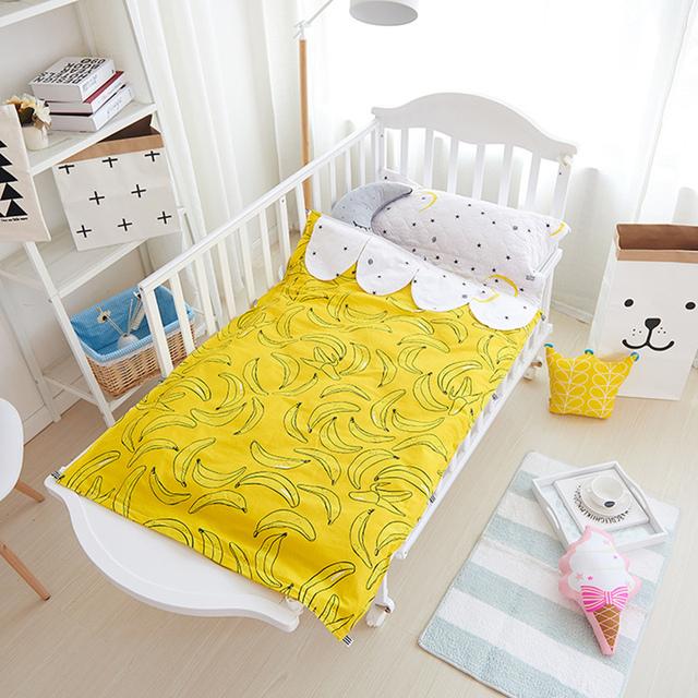 1 pcsbaby quilt 1 unids sábana de algodón 2 unids bebé juego de Cama sin relleno