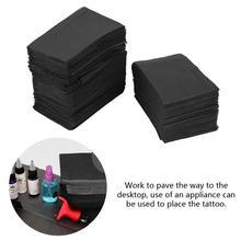 125 sztuk jednorazowe czyste klocki wodoodporna mata obrusy czarny Clean Pad Underpad medyczne arkusze stołowe narzędzia do paznokci 45*33cm