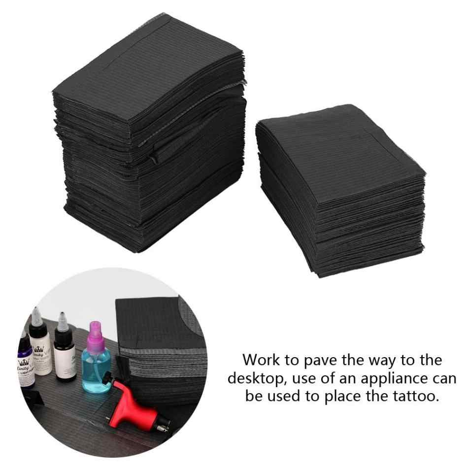 125 шт одноразовые чистые подушечки водонепроницаемый коврик скатерти черный чистый коврик подстилка медицинские столовые простыни инструменты для дизайна ногтей 45*33 см