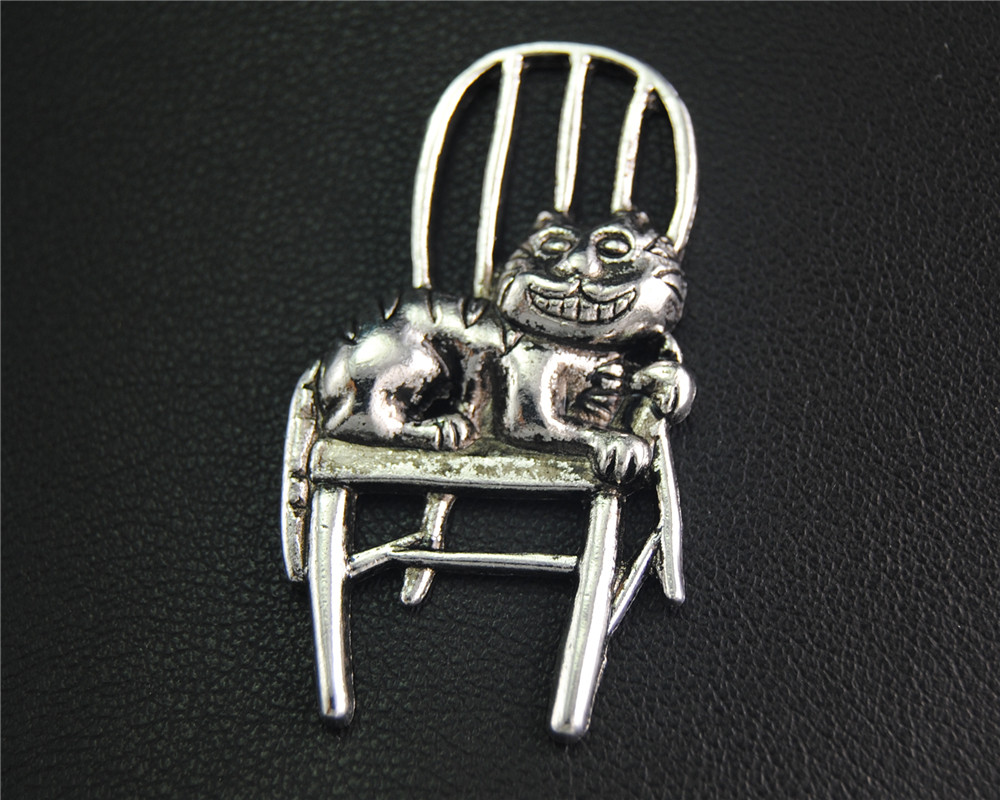 10Pcs Antique Sliver Cat Sat On Chair Charm Fit Bracelets Necklance DIY Metal Jewelry Making 41x22Mm A2063 ...