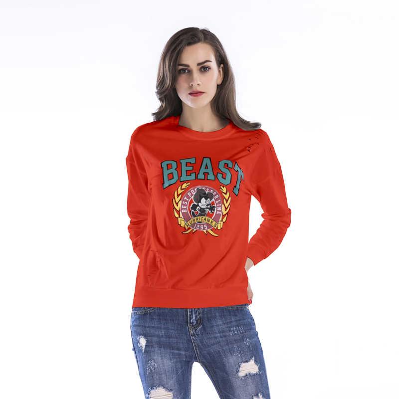 Autumn Spring Woman's Tops Loose Sweatshirt Personality Long-sleeved Printed Turtleneck Whiskey Harajuku Riverdale Lil Peep