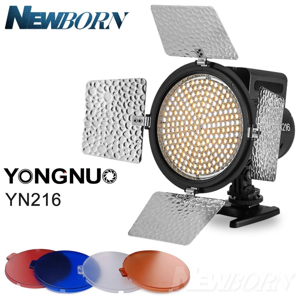 YONGNUO YN-216 YN216 LED Caméra Vidéo Lumière Réglable 3200 K-5500 K Température de Couleur pour Canon 6D 5D 80D Nikon D850A D800 D750