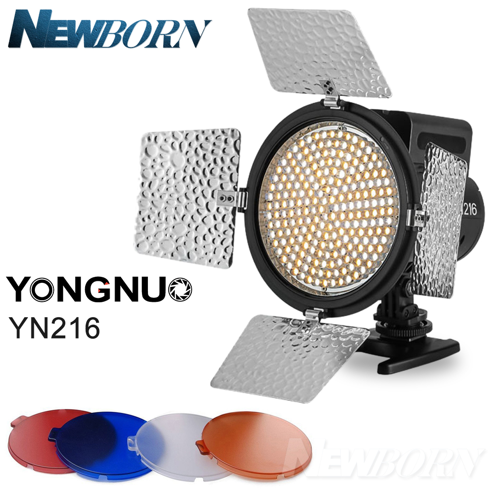 YONGNUO YN-216 YN216 LED Video Camera Light Adjustable 3200K-5500K Color Temperature for Canon 6D 5D 80D Nikon D850A D800 D750 yongnuo yn300 air 3200k 5500k yn 300 air pro led camera video light with np f550 battery and charger for canon nikon