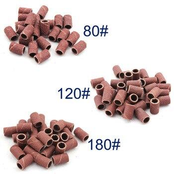 30 шт./упак. шлифовальные ленты для ногтей для маникюра машина для сверления ногтей для педикюра 80 #120 #180 # каждый размер 10 шт инструменты для ногтей