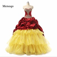 2019 New Arrival Real Photo Beaded Organza Taffeta Sweet 16 Sixteen Dresses Vestidos De 15 Anos Ball Gown Quinceanera Dresses