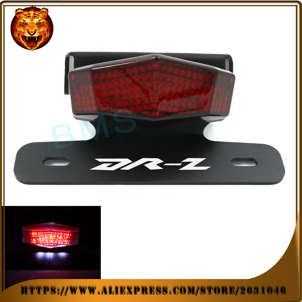 Motorcycle Tail Tidy Fender Eliminator Registration License Plate Holder LED Light For SUZUKI DRZ 400S 400SM DR-Z 400 drz400 red for suzuki gsx r600 k6 2006 2007 fender eliminator tail tidy holder motorcycle license plate bracket for suzuki gsxr750 k6