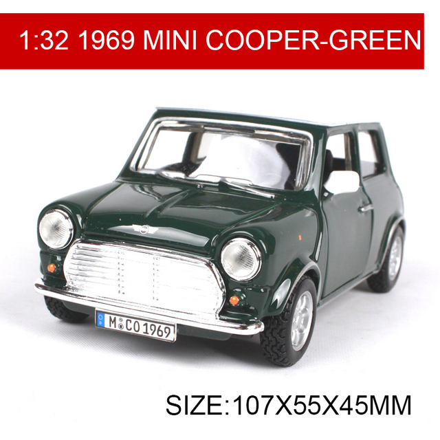 Diecast Model Car MINI COOPER Classic Cars Vehicle Play - 1969 classic cars