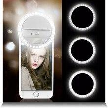 Монопод для селфи светодиодный Кольцевая вспышка светомузыка телефон Портативный светодиодный мобильного телефона светильник лампа на прищепке для iPhone xr телефона объектив lampka сделать телефона