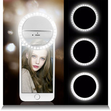 Selfie LED anillo Flash Lumiere teléfono portátil LED móvil luz Clip lámpara para iPhone xr telefoon lente murka do telefonu