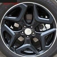 FIT for Subaru XV 2018 wheel decoration decorations modified special hub film carbon fiber sticker