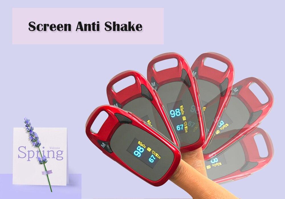 ჱDedo oxímetro de pulso pantalla OLED de Color cuatro colores 4 ...
