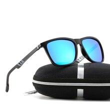 New Men and Women Sunglasses Polarized Trend Driver Glasses Colorful Aluminum Magnesium Alloy Mens Eyeglasses Spring Legs