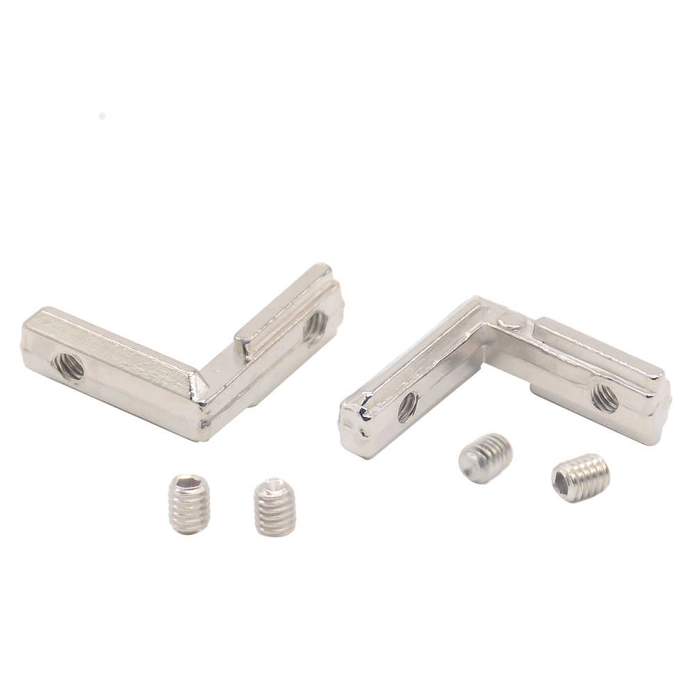 Hotsale T slot L type 90 Degree 2020 aluminum connector bracket fastener EU standard 20/30/40/45 series aluminum profile parts