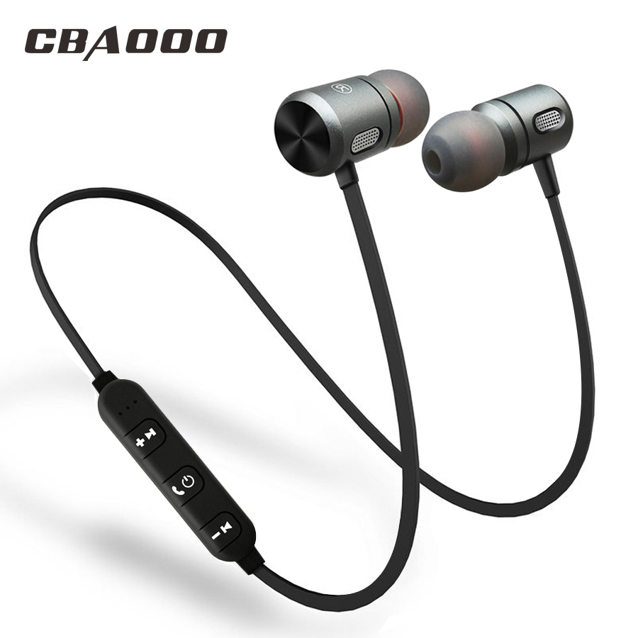 CBAOOO Bluetooth Wireless Earphone Bluetooth headset Sports In Ear Magnetic Wireless Earbuds Earpiece With Mic For Mobile Phone new ht original headband bluetooth wireless earpiece headset with microphone for mobile phone music player earphone gaming